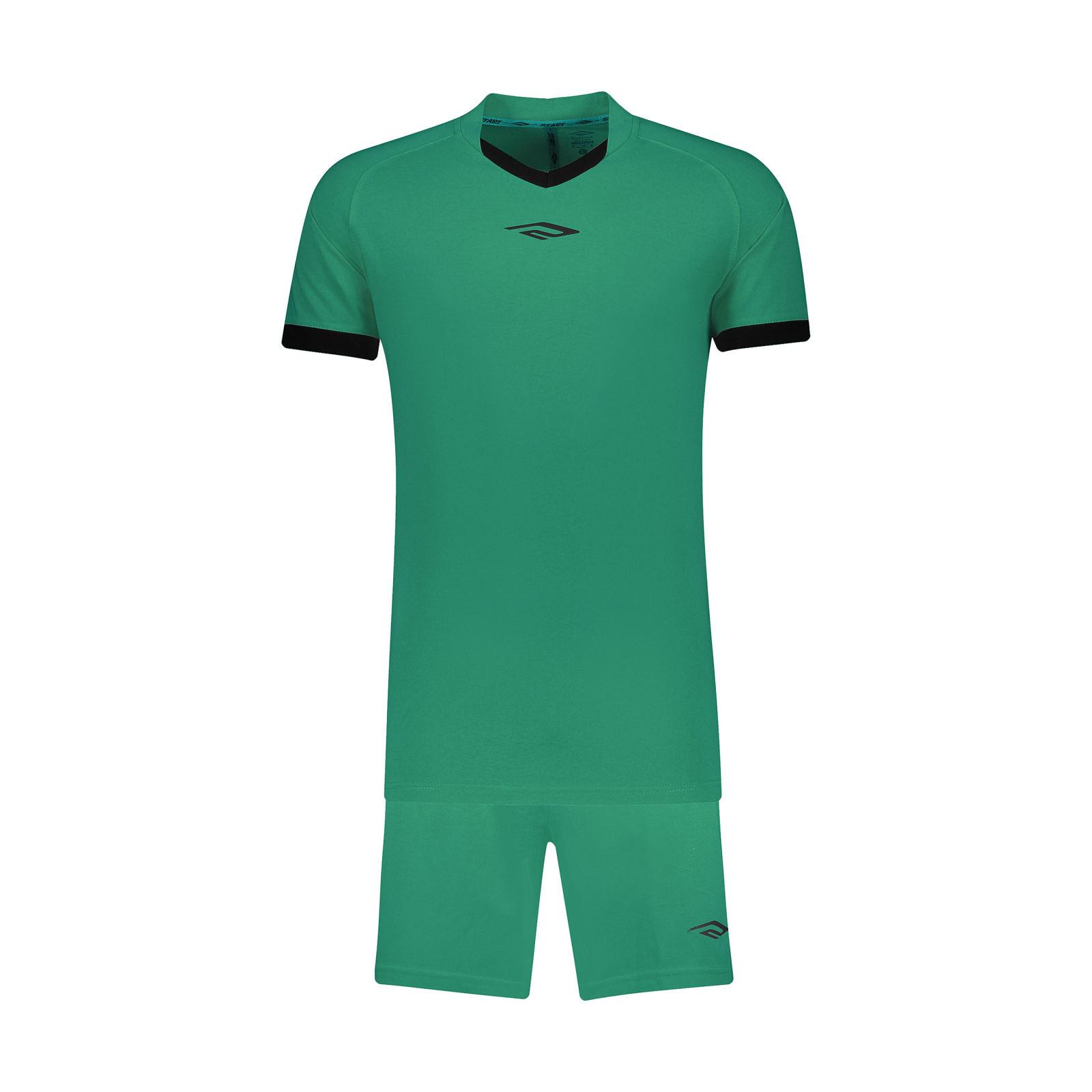 ست تیشرت و شلوارک ورزشی مردانه استارت مدل v1001-2 -  - 2