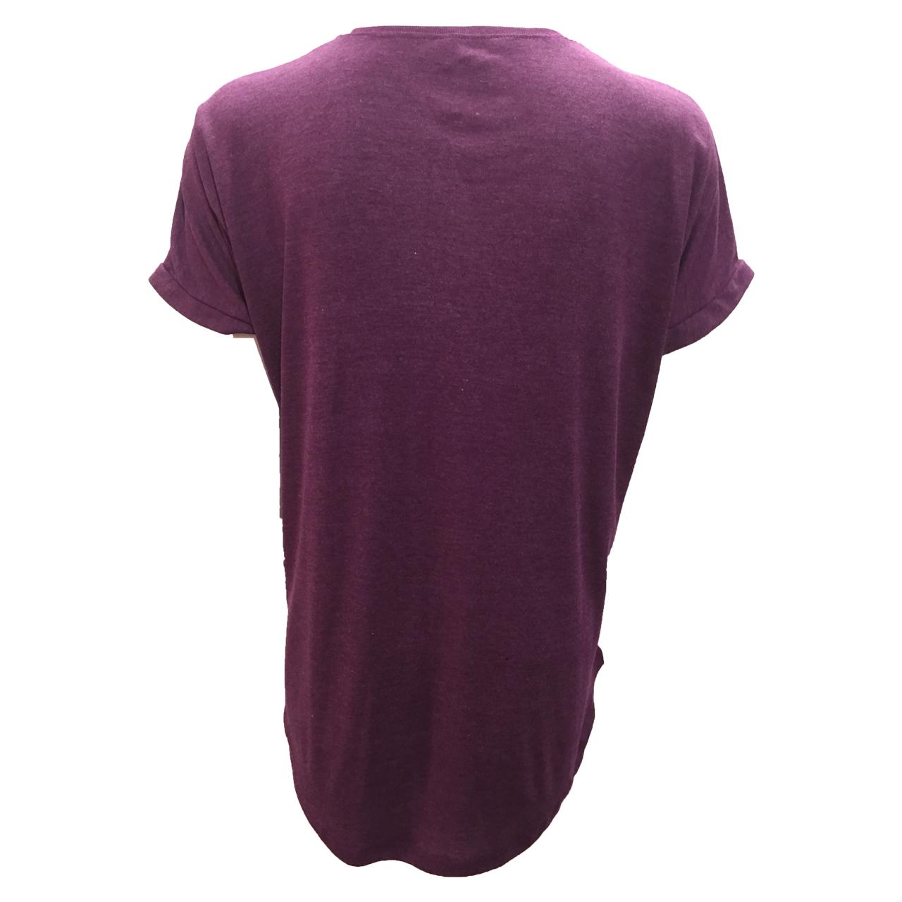 تی شرت آستین کوتاه زنانه مدل butterfly کد tms-1053 رنگ بنفش