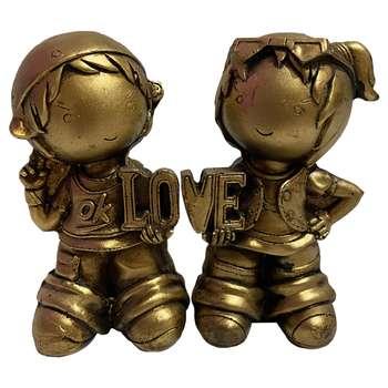 مجسمه طرح دختر و پسر مدل عشق کد RM-698479 مجموعه 2 عددی