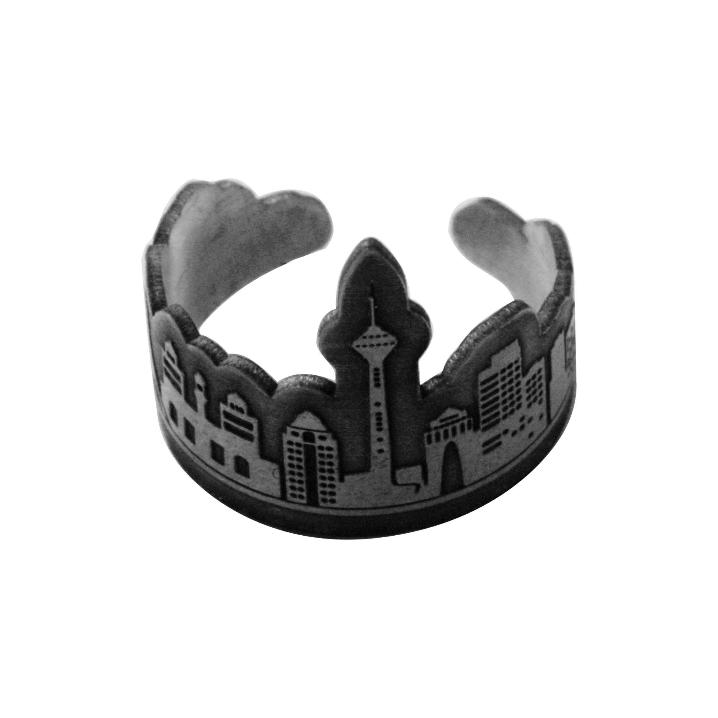 انگشتر  نقره زنانه دلی جمطرح  تهران مدل 463 D