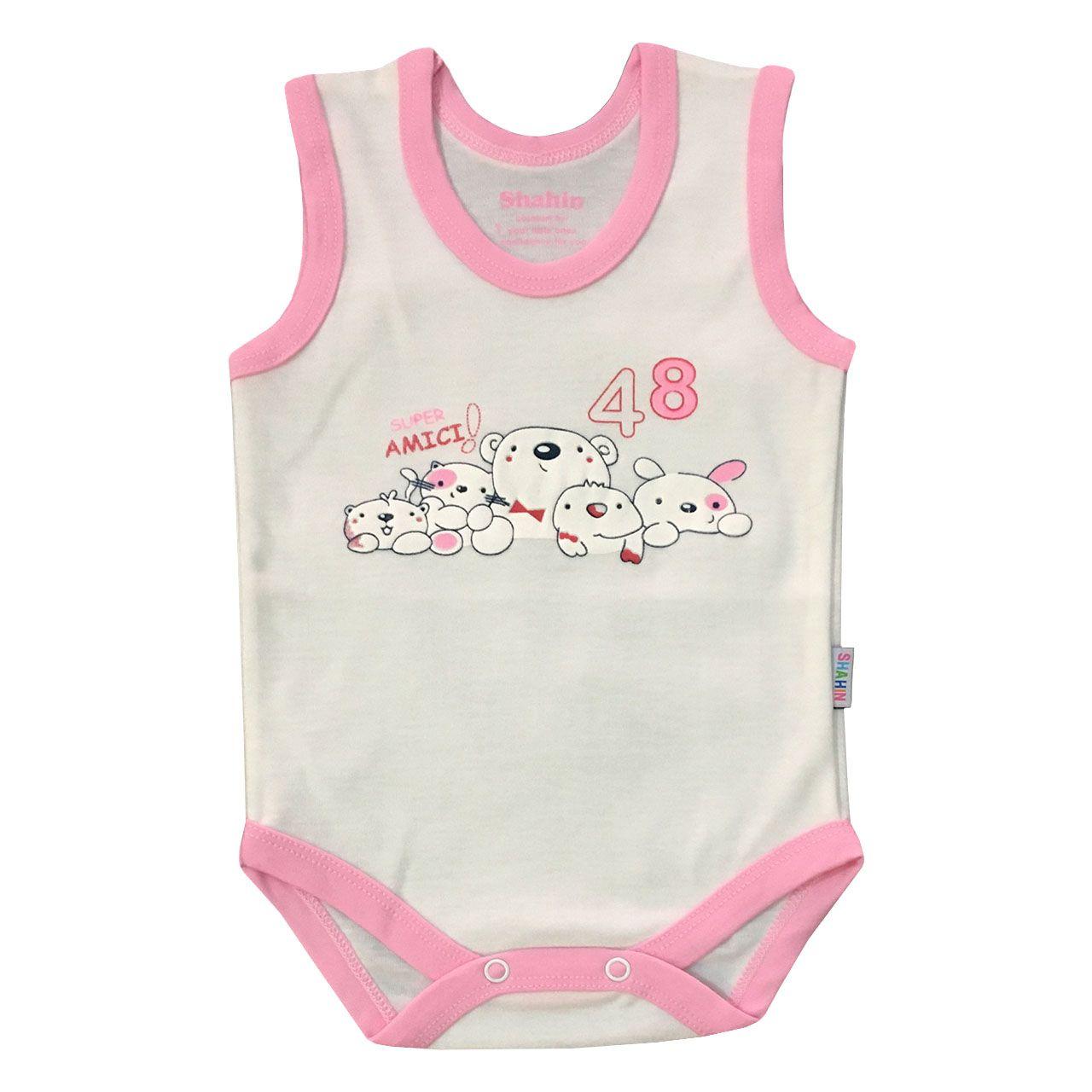 ست 3 تکه لباس نوزادی دخترانه شاهین طرح امیکی کد T -  - 3