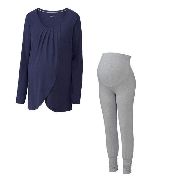 ست تی شرت و شلوار بارداری اسمارا مدل MATERNITY PYAMAS 300733
