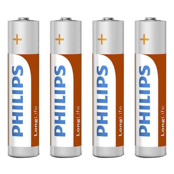بررسی و {خرید با تخفیف} باتری نیم قلمی فیلیپس مدل R03L60T/97 بسته 60 عددی اصل