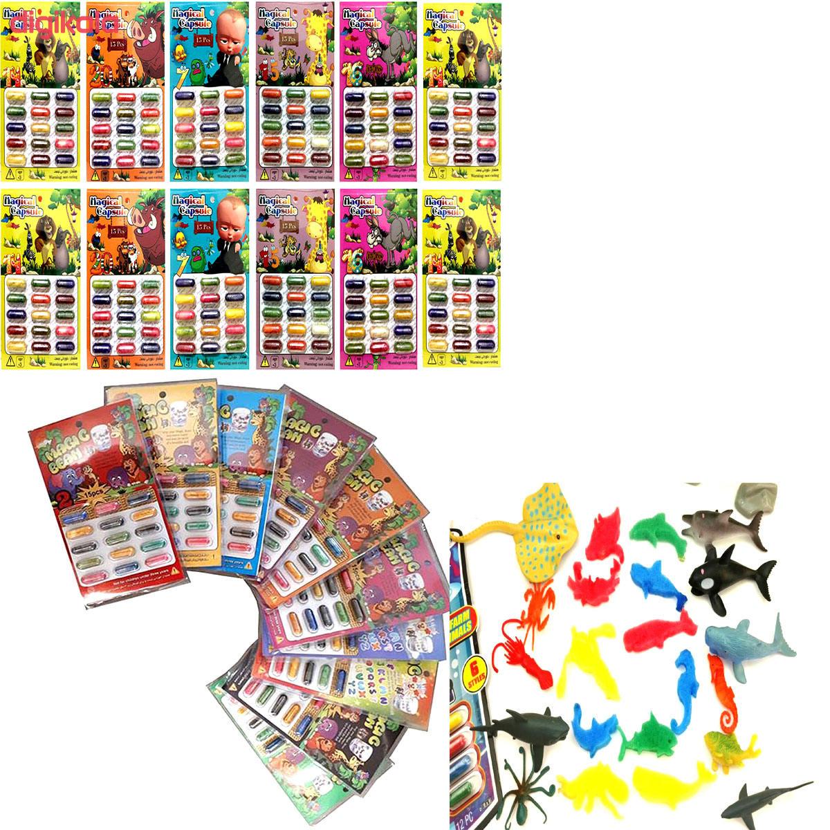 کپسول سحرآمیز مجیک طرح حیوانات کد 450 بسته 15 عددی main 1 2
