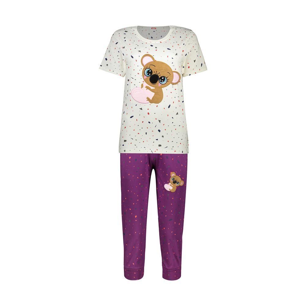 ست تی شرت و شلوارک راحتی زنانه مادر مدل 2041103-67