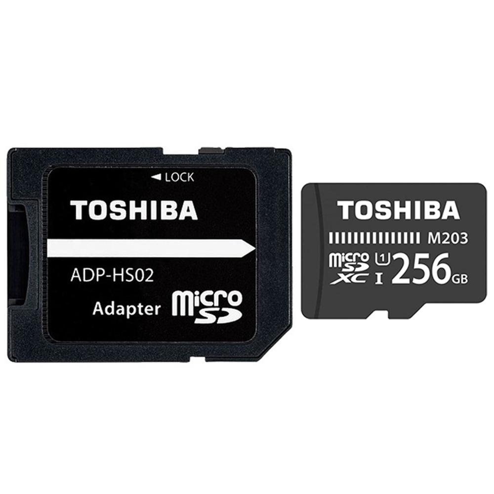 کارت حافظه microSDXC توشیبا مدل M203 کلاس 10 استاندارد UHS-I U1 سرعت 100MBps ظرفیت 256 گیگابایت به همراه آداپتور SD