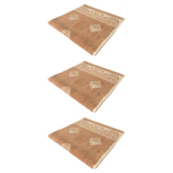حوله دستی فرش مریم مدل Gol1 سایز 30x60 سانتی متر بسته 3 عددی