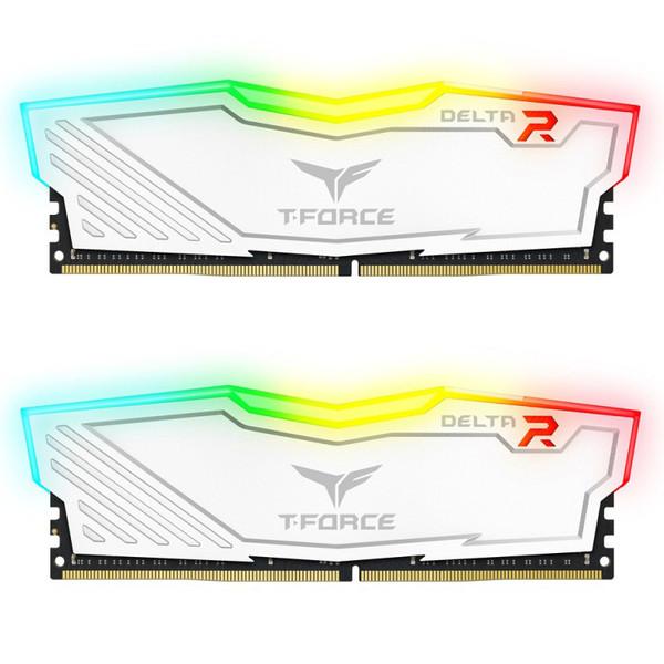 رم دسکتاپ DDR4 دو کاناله 3200 مگاهرتز CL16 تیم گروپ مدل T-Force Delta RGB ظرفیت 16 گیگابایت