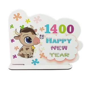 استند رومیزی تزیینیطرح 1400 مدل happy new year