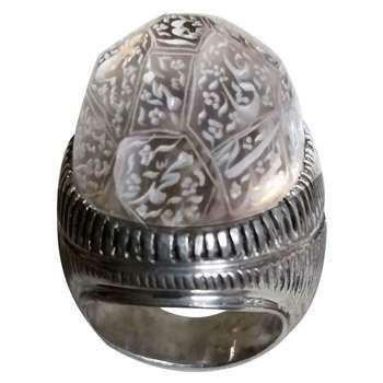 انگشتر نقره مردانه مدل تراش کد 110