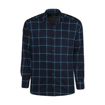پیراهن آستین بلند مردانه مدل 56 رنگ آبی نفتی