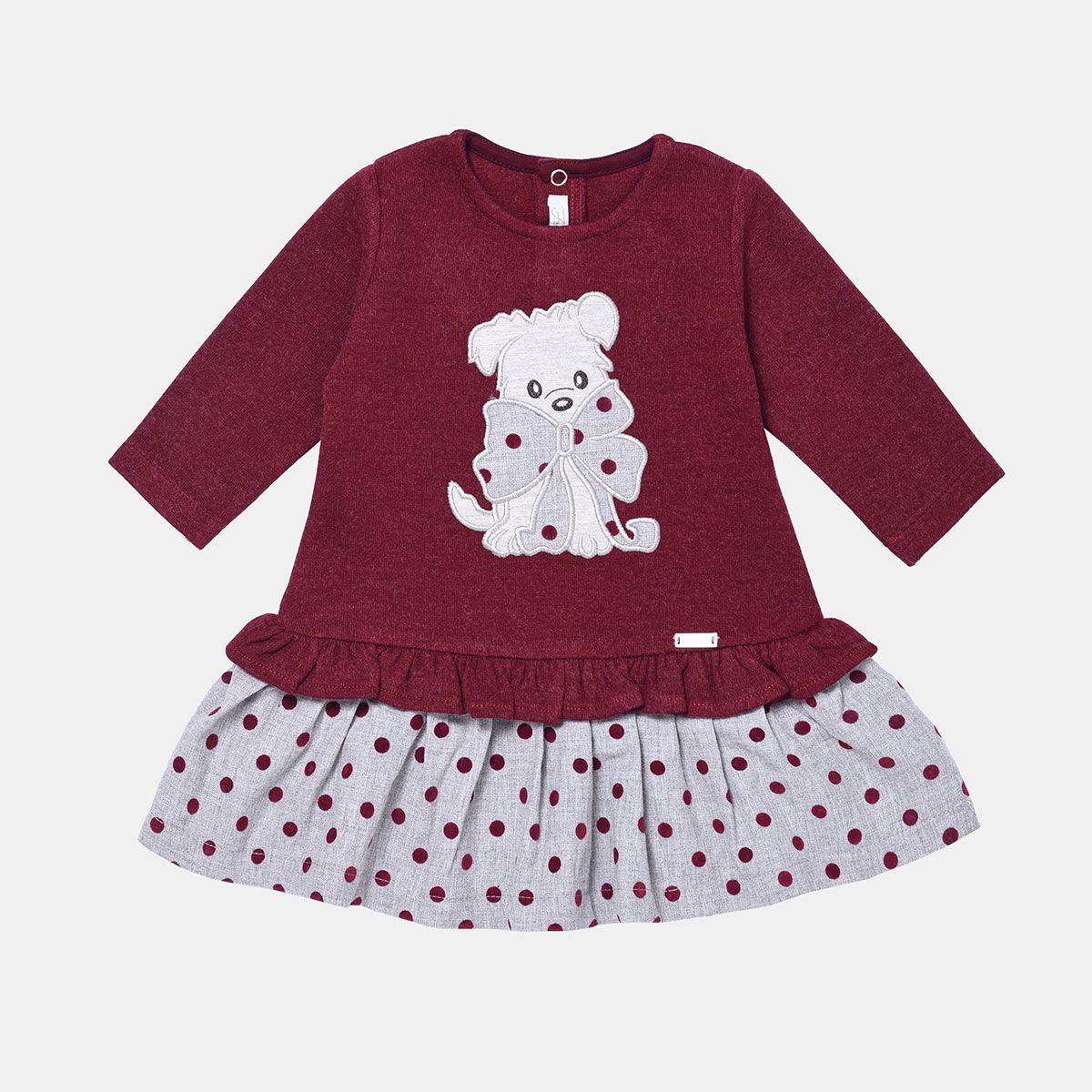 پیراهن دخترانه فیورلا مدل  خرس خالدار  کد 31515 -  - 2