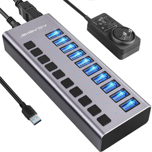 هاب 10 پورت USB 3.0 اکاسیس مدل HS-710