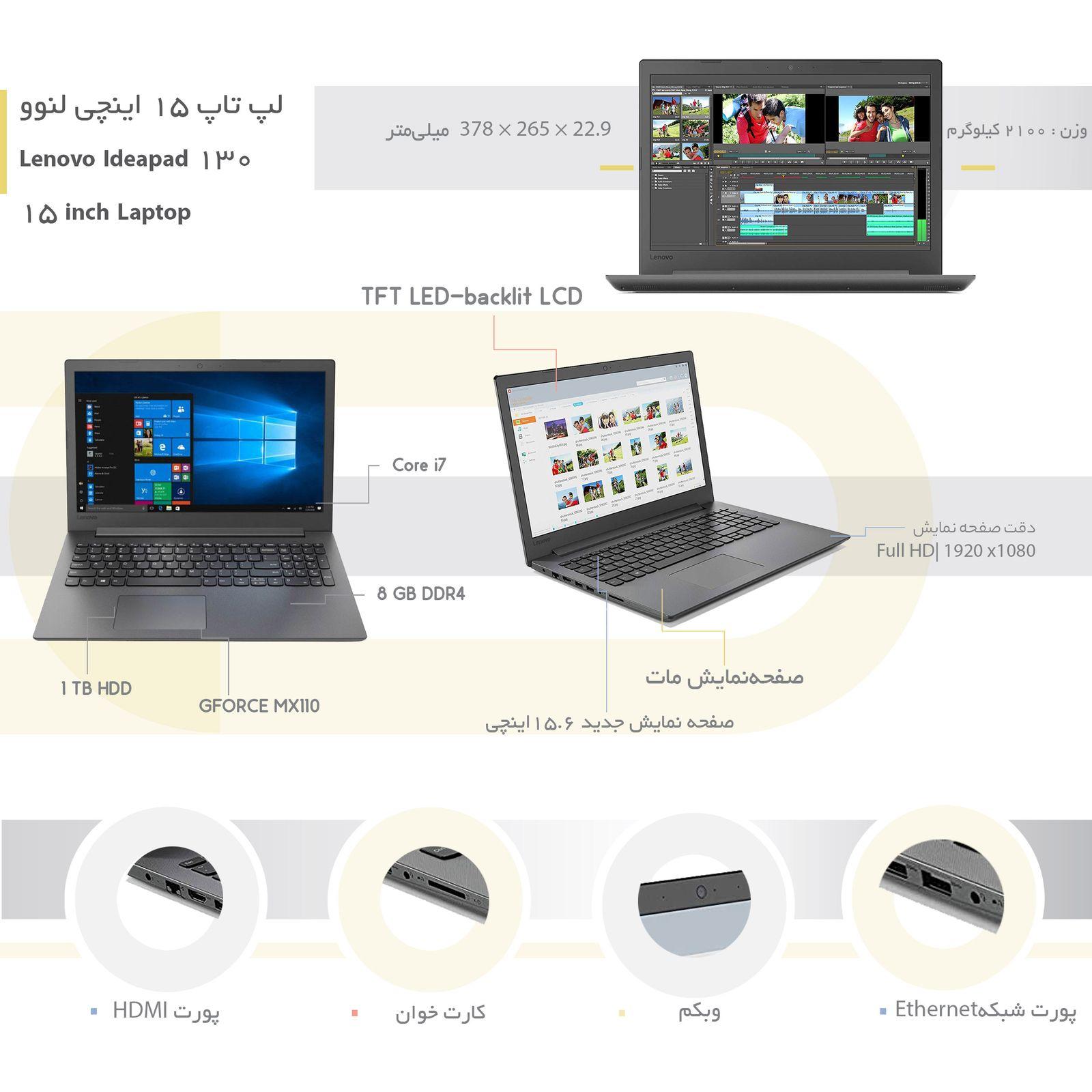 لپ تاپ 15 اینچی لنوو مدل Ideapad 130 - N main 1 4