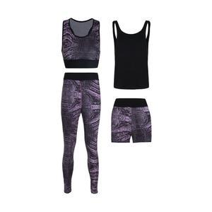 ست 4 تکه لباس ورزشی زنانه مدل Mhr-1005