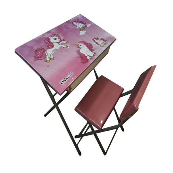 ست میز تحریر و صندلی مدل اسب تک شاخ