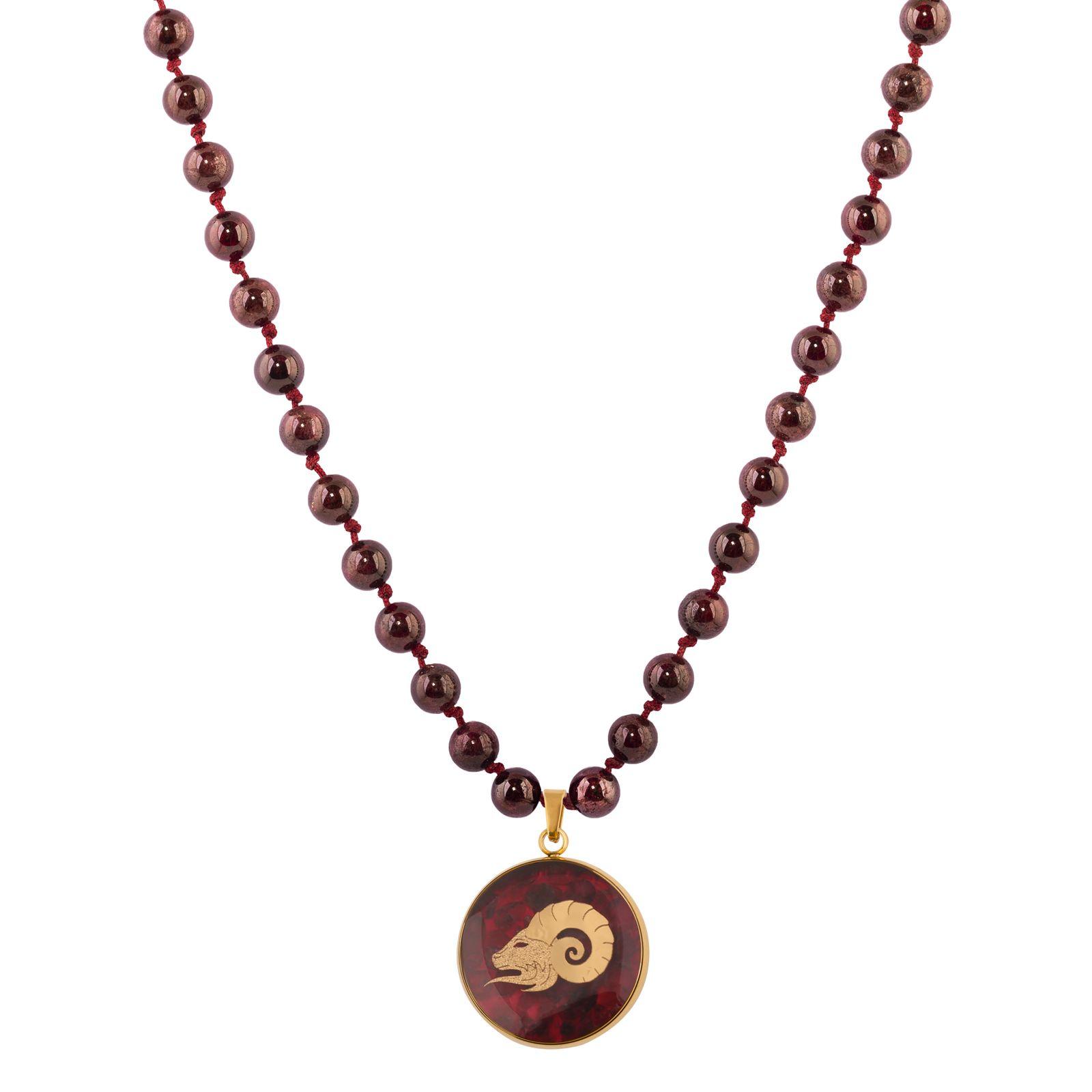 گردنبند زنانه الون طرح نماد ماه فروردین کد GAR102 -  - 2
