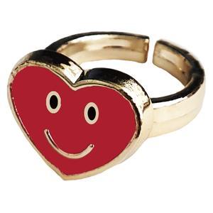 انگشتر دخترانه طرح قلب خندان