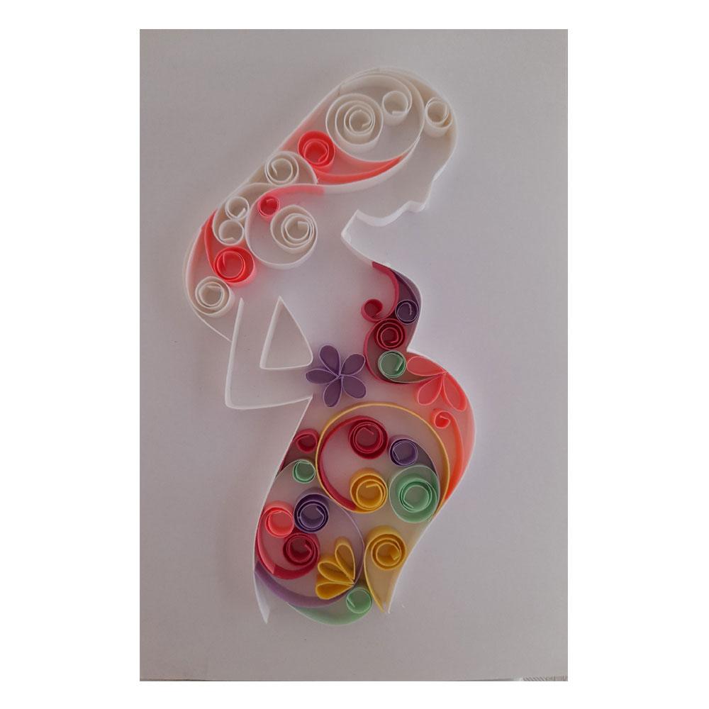 تابلو ملیله کاغذی مدل pregnancy