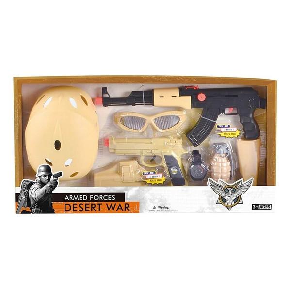 اسباب بازی جنگی مدل Desert War کد D006B مجموعه 8 عددی