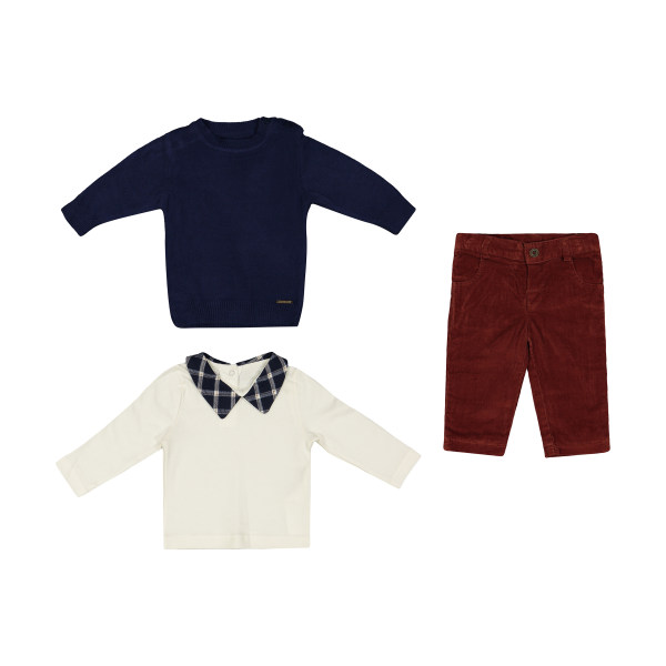 ست 3 تکه لباس نوزادی مونا رزا مدل 2141152-59