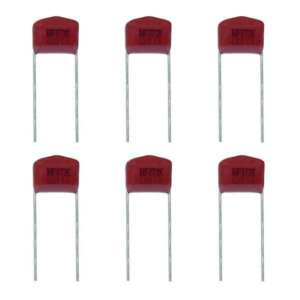 خازن 47 نانو فاراد 630 ولت مدل TPC-473630 بسته 6 عددی