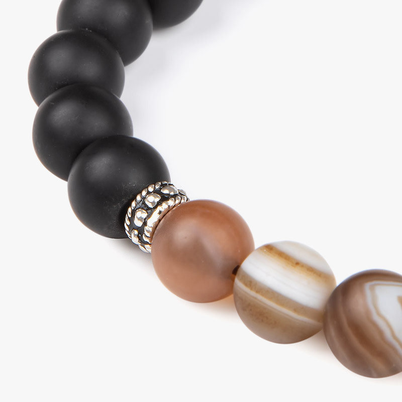 دستبند نقره مردانه ریسه گالری کد A1235