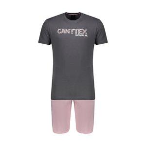 ست تی شرت و شلوارک مردانه دل مد گروپ مدل 249200215