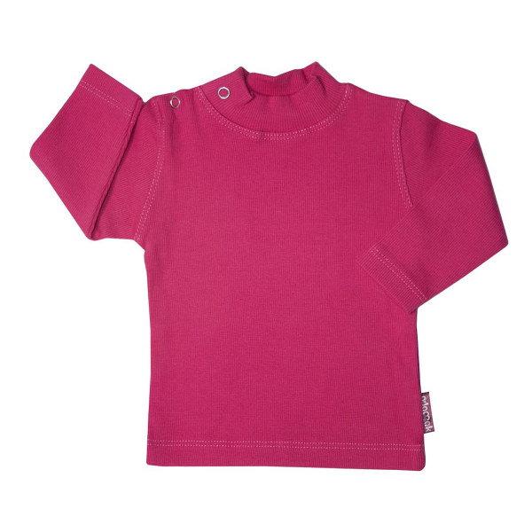 تی شرت آستین بلند نوزادی آدمک کد 145401 رنگ سرخابی