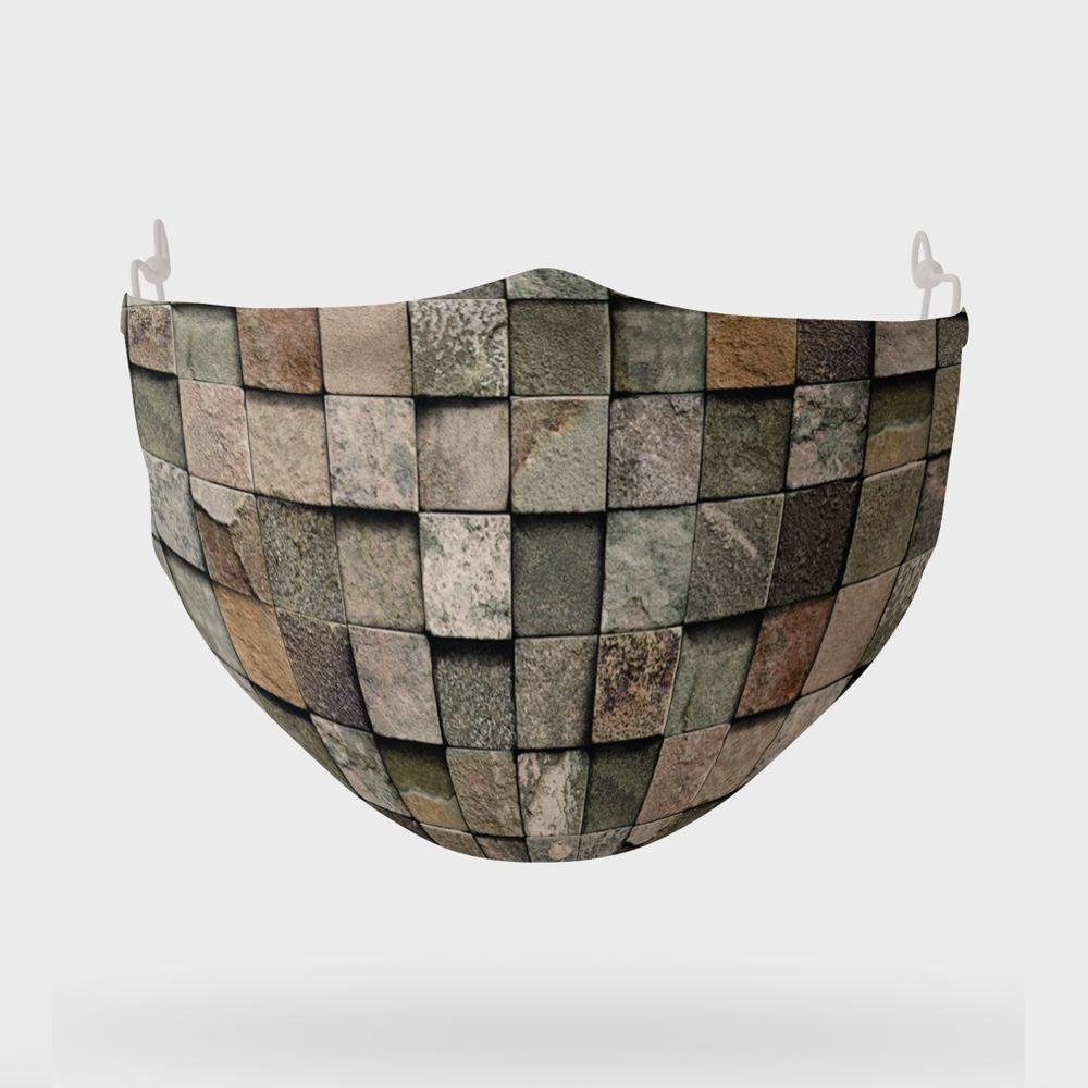 ماسک تزیینی مدل دیوار سنگی سه بعدی کد 036
