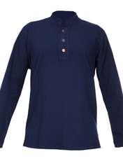 پیراهن آستین بلند مردانه کد P.3D.S.04 رنگ سرمه ای -  - 1