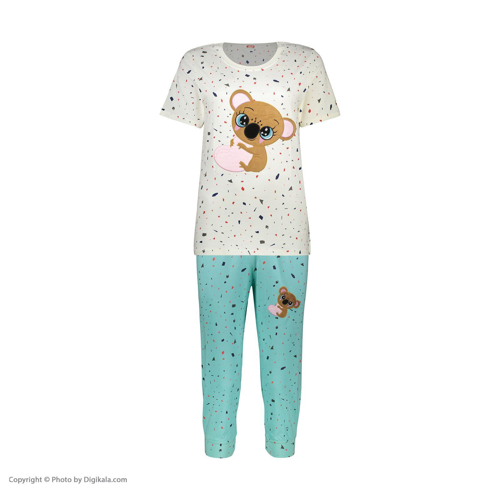 ست تی شرت و شلوارک راحتی زنانه مادر مدل 2041103-54 -  - 3