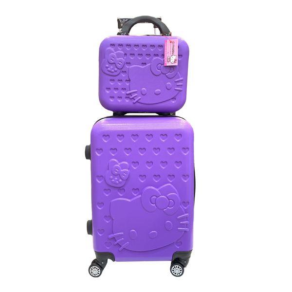 چمدان کودک طرح گربه کد C0404 مجموعه 2 عددی غیر اصل