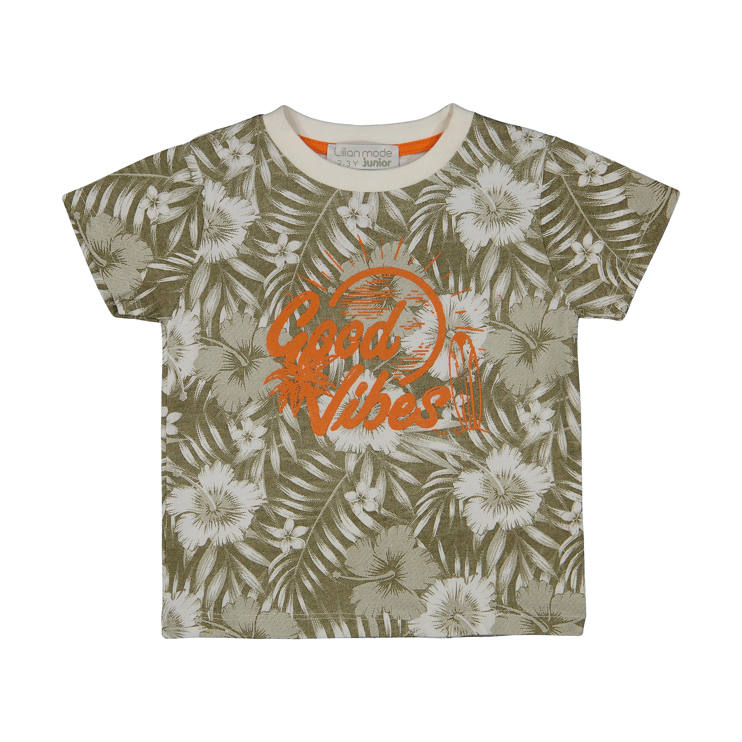 تی شرت پسرانه لیلیان مد مدل K0442061TS-KHAKI