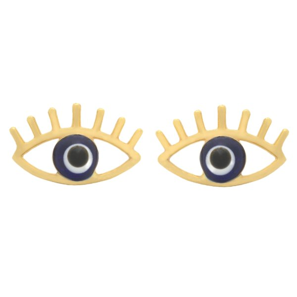 گوشواره طلا 18 عیار دخترانه طلای مستجابی مدل چشم کد 75