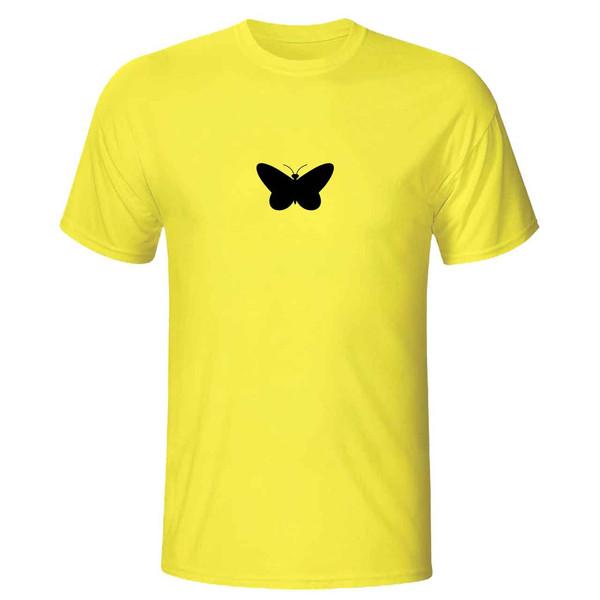 تی شرت آستین کوتاه زنانه طرح پروانه مدل 36004