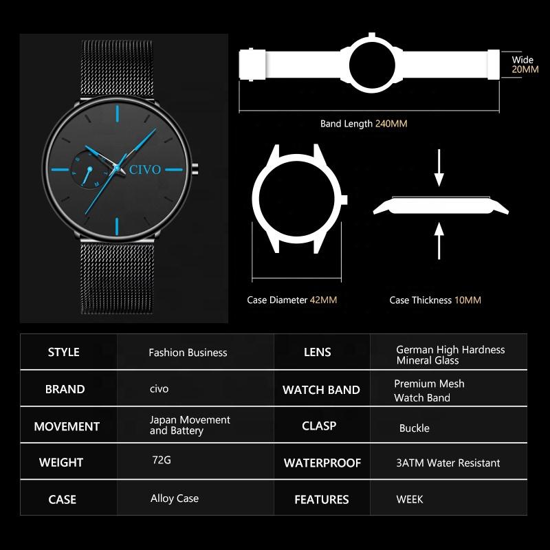 ساعت مچی عقربه ای سیوو مدل 8052