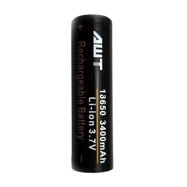 باتری لیتیوم یون قابل شارژ ای دبلیو تی کد IMR18650 ظرفیت 3400 میلی آمپرساعت
