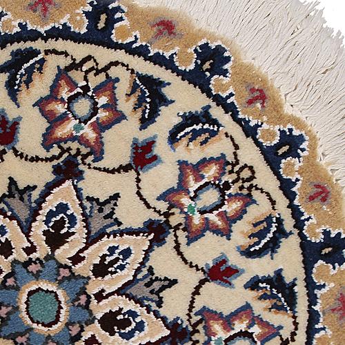 فرش دستبافت دایره نیم متری کد 990832