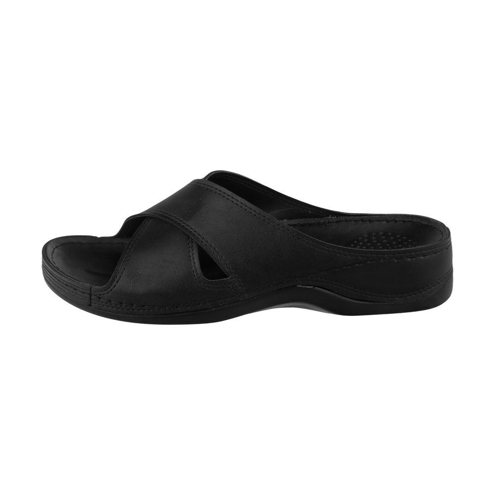 دمپایی زنانه کفش آویده کد av-0304501 رنگ مشکی