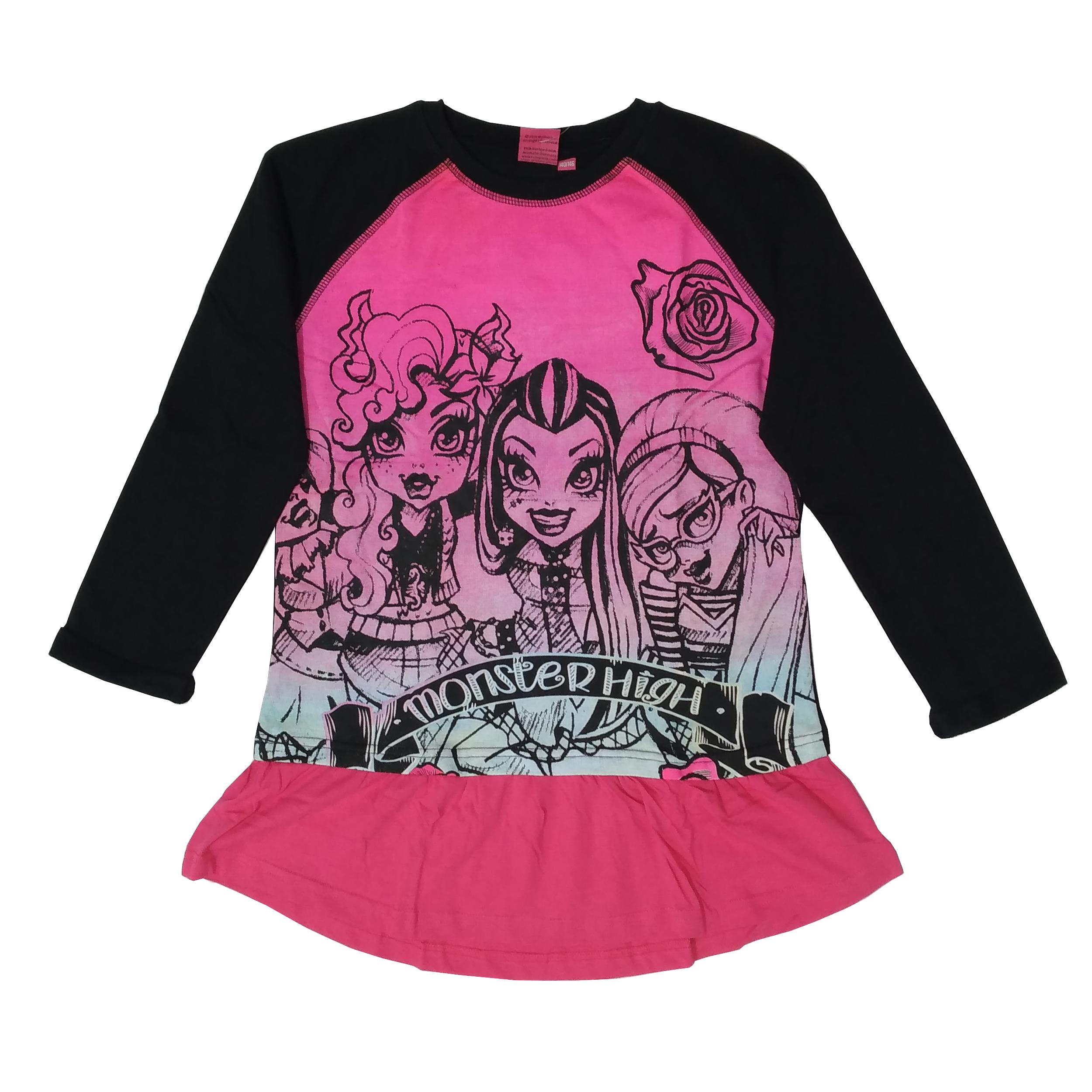 تی شرت آستین بلند دخترانه مانستر های مدل 11-16-137
