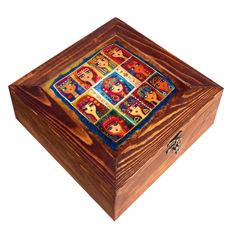 جعبه هدیه چوبی کد CG09