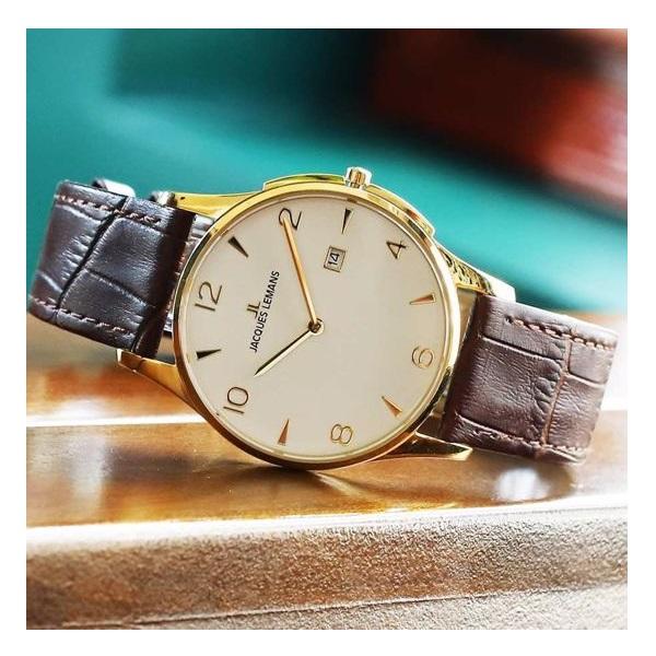 ساعت مچی عقربهای مردانه ژاک لمن مدل 1-1850ZD