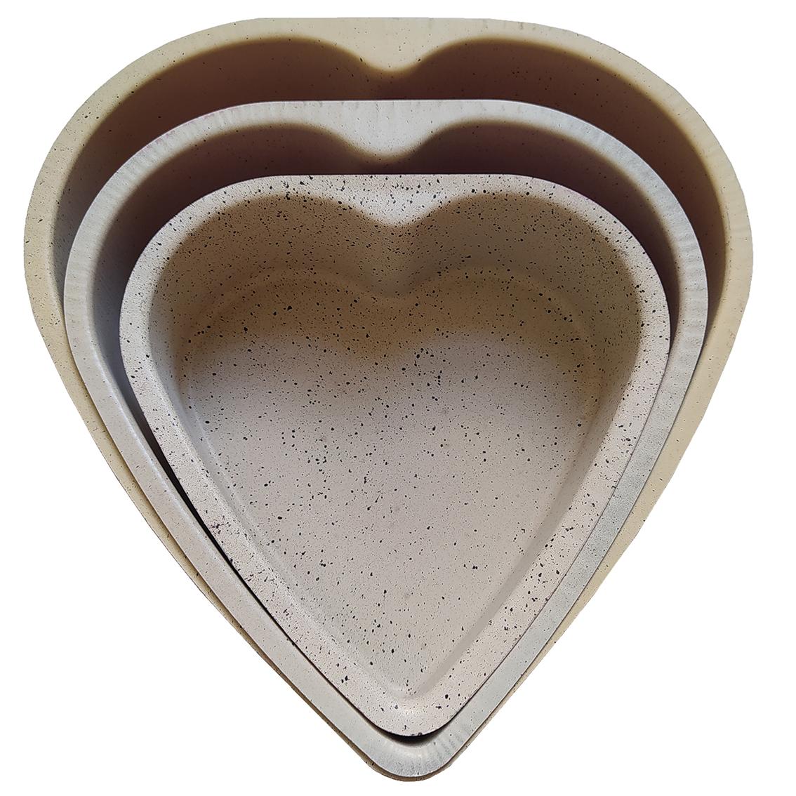 قالب کیک مدل قلب مجموعه سه عددی