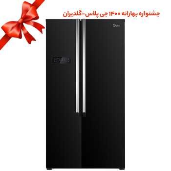 تصویر یخچال و فریزر ساید بای ساید جی پلاس مدل GSS-K716BG Gplus GSS-K716BG Side By Side Refrigerator