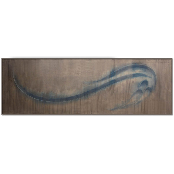 تابلو نقاشیخط ساقی مدل برجسته روی بوم سبک انتزاعی