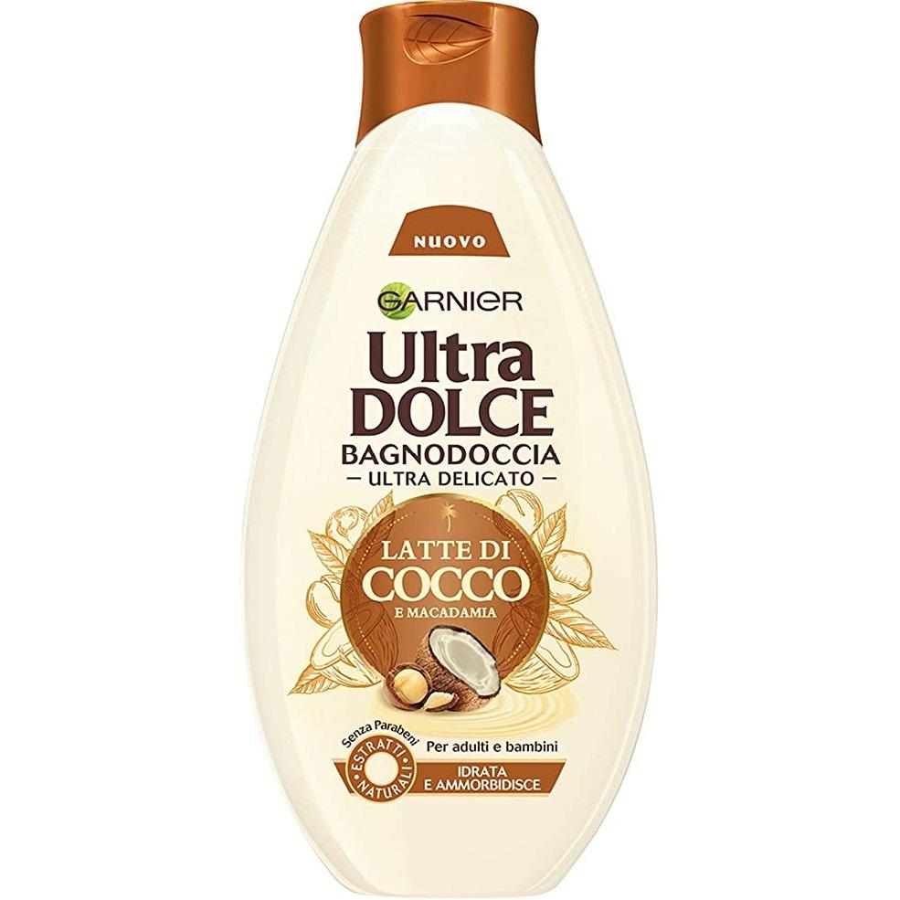 شامپو بدن گارنیه سری Ultra Dolce مدل شیر نارگیل و ماکادمیا حجم 500 میلی لیتر