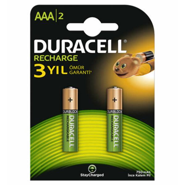 باتری نیم قلمی قابل شارژ دوراسل مدل HRO3/DC2400 بسته 2 عددی