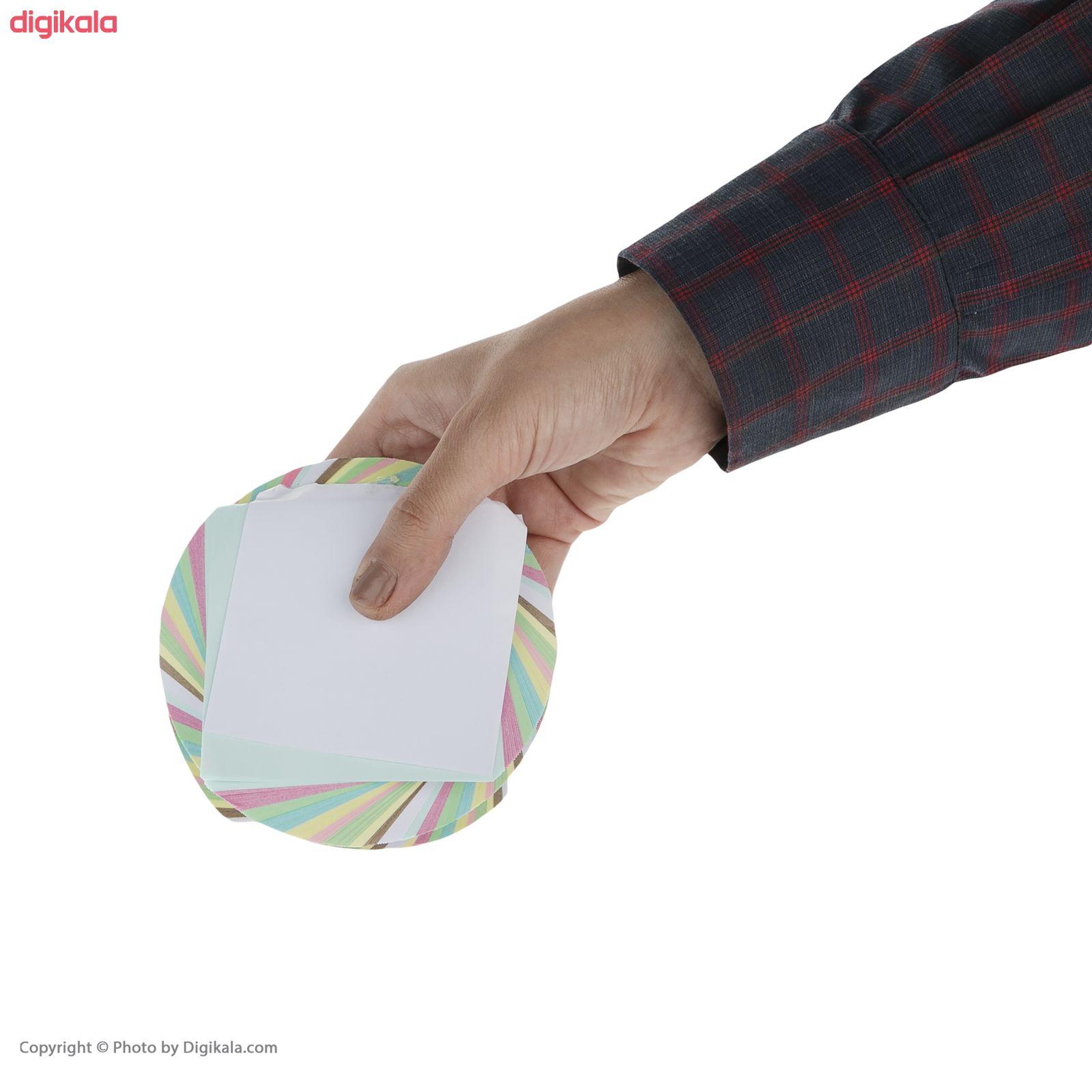 کاغذ یادداشت 10 رنگ طرح چرخشی main 1 4