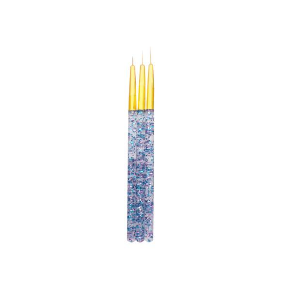 قلم موی طراحی ناخن مدل NKAK-876 مجموعه 3 عددی